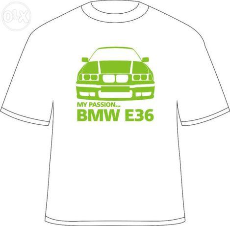 "Tricou personalizat ""my passion... bmw e36"""