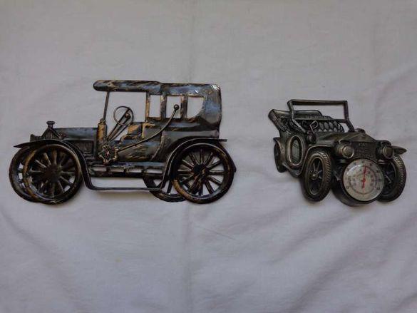 Ретро автомобили за колекция единия е термометър RR 1909г.украса стена