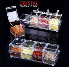Кутия за подправки 4бр.Cristal seasoning box