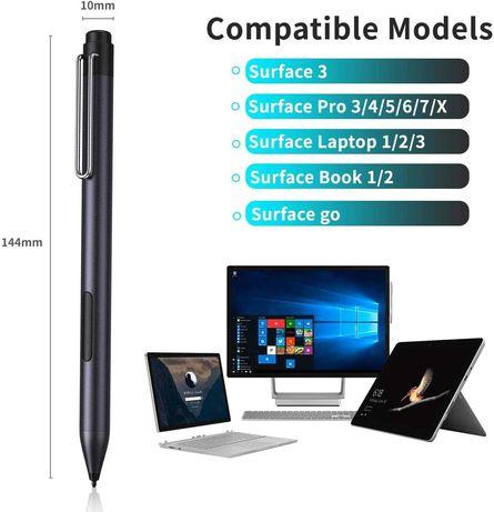 Surface Pen cu baterie si vârf cadou [Culori Negru și Silver]