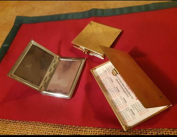 Старинни метални кутии за снимки и визитник