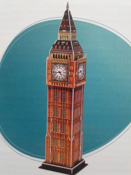 Joc/ set puzzle 3D cu Big Ben, 30 piese, nou, dim. 9 x 9 x 38,5 cm