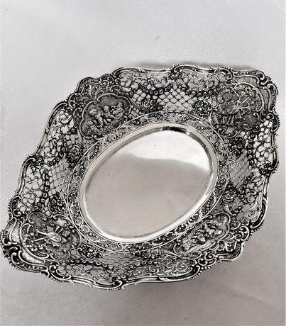 Fructiera din argint masiv 800 lucrata in filigran