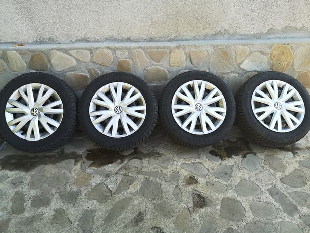 Jante originale Tabla Volkswagen cu anvelope iarna DUNLOP WINTER SPORT