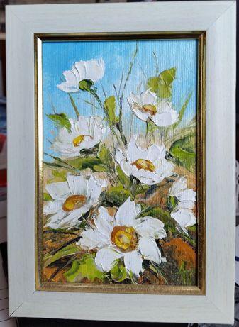 """Продавам картина """"Бели цветя"""""""
