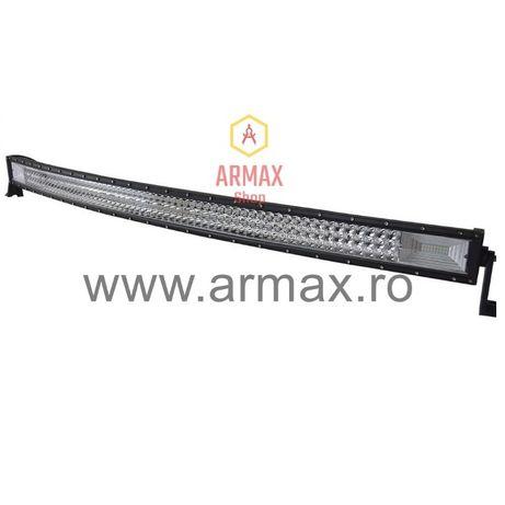 Proiector auto led bar curbat 132 cm 675w 12v - 24v offroad