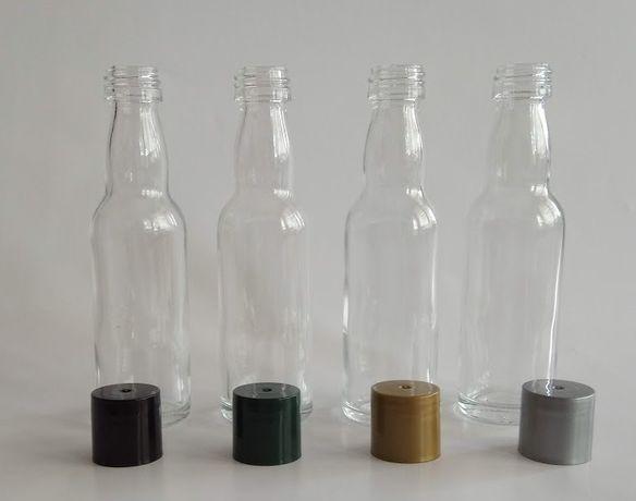 Бутилки, Бутилчици, Прозрачни, Стъклени, Капачки за бутилчици 40 мл