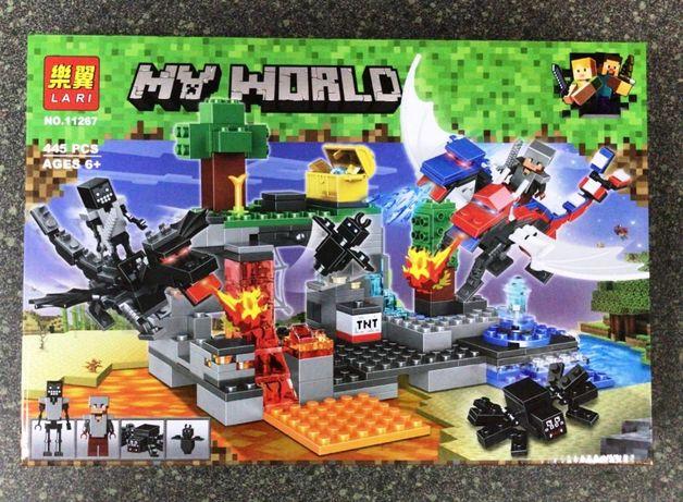 Игрушка конструктор Lari Minecraft Драконы №11267 Алматы