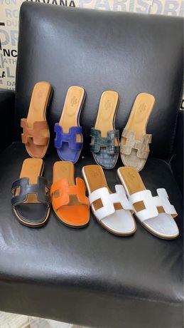 Papuci dama Hermes piele naturala Premium
