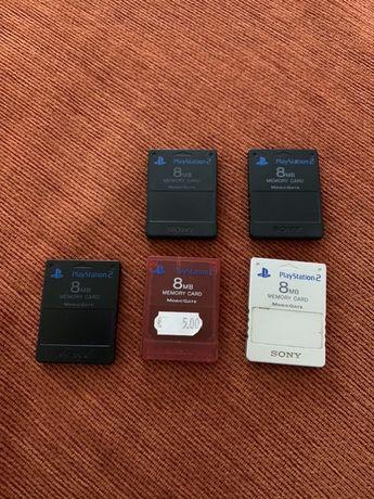 Card Ps2/Playstation 2  original 8 mb culori diferite