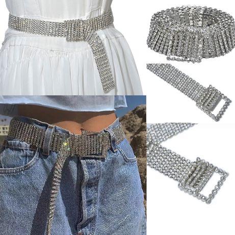 Curea Z3 cristale diamante pietre stil Fashion Nova Zara catarama