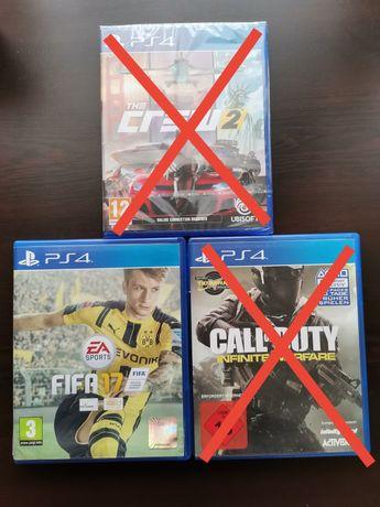 The Crew 2, FIFA 17, Call of Duty infinite warfare PS4