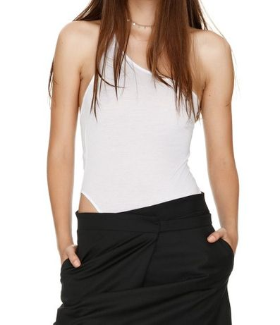 Bodysuit cu un singur umar dama PNK Casual culoare alb mar.34 (nou)