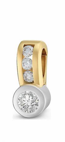 Pandantiv christ din aur cu diamante