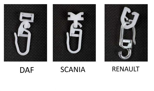 Cleme perdele cabina Scania, Daf, Renault