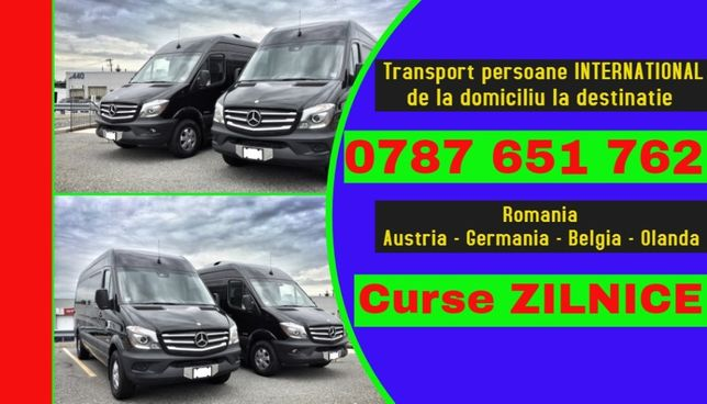 Plecari ZILNICE transport persoane la adresa Germania Austria Romania