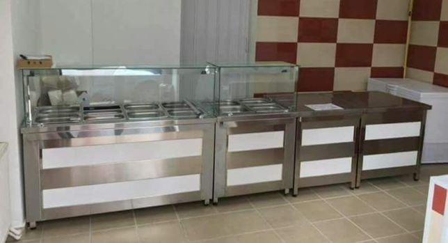 Linie autoservire, vitrina calda, rece fast food / Atelier Horeca