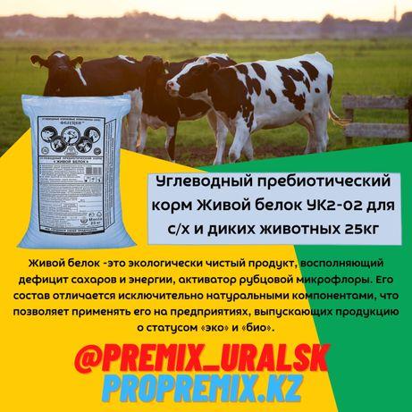 Углеводный пребиотический корм Живой белок для с/х и диких животных