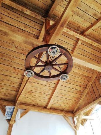 Lustra din lemn , moderna pentru foisoare