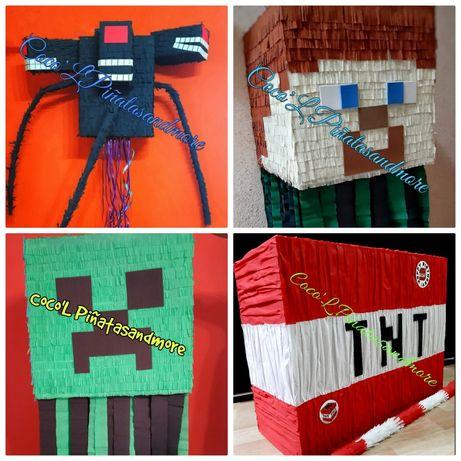 Piñata Minecraft,Pokemon,TNT,Lego,Roblox,FNAF Venom