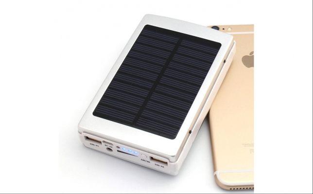 Baterie externa Power Bank 20000 mAh cu incarcare solar