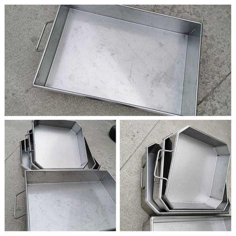 Тава за печене на  агне,лютеница-алпака,емайлирана, алуминиева