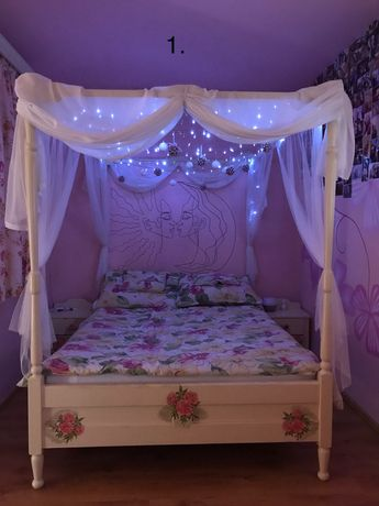 Mobila dormitor vintage lemn