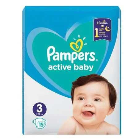 Scutece Pampers Active Baby nr.3, 6-10 kg, 15 buc