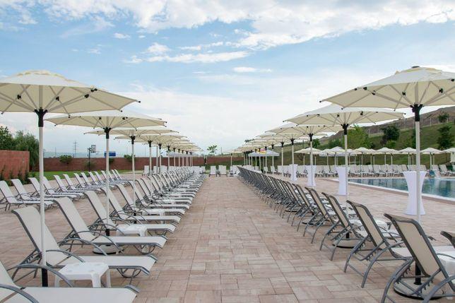 Sezlong piscina hotel pensiune strand (sezlonguri aluminiu textilena)