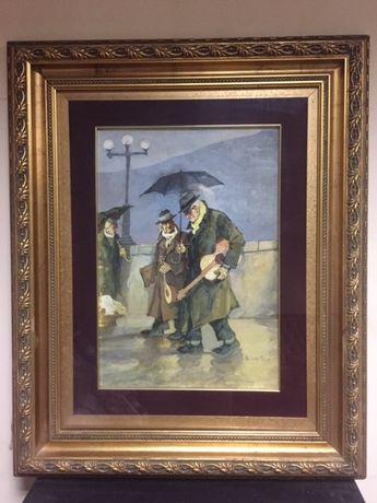 Tablou autentic,pictura in ulei,Aniello Eco(1919-2000)!