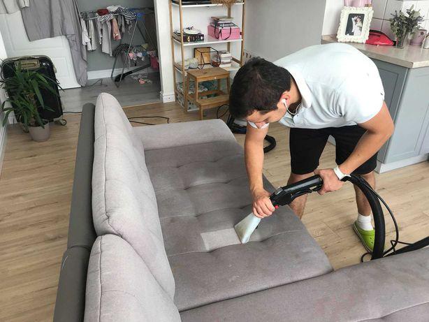 Химчистка мягкой мебели, гипоаллергенная химия Немецкое оборудование