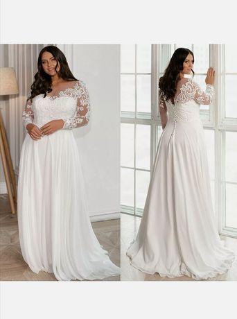 Нова! Сватбена рокля макси размер