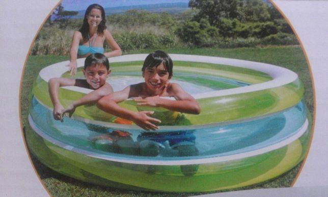 Piscina gonflabila,inele translucide, Intex, nou, 201x51cm, nou, sigil