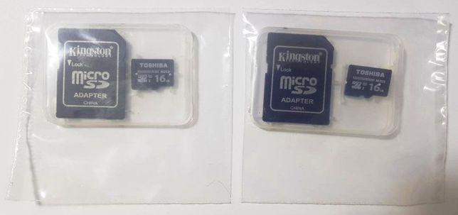 Card de memorie Toshiba 16GB, Class 10. Nou! cu carcasa!