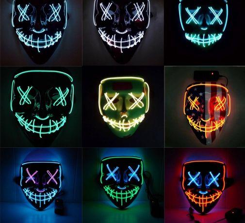 Неоновые маски светящиеся