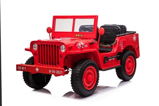 Masinuta electrica Jeep USA ARMY 4X4 180W PREMIUM #Rosu
