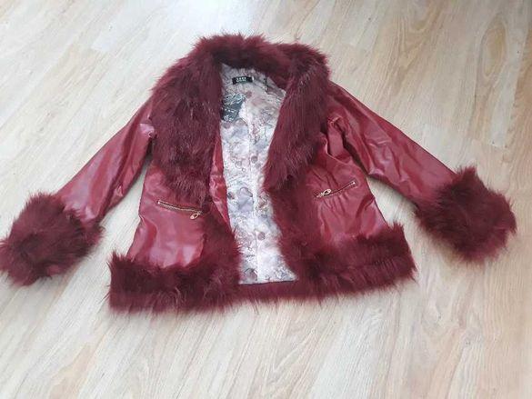 Дамско кожено яке