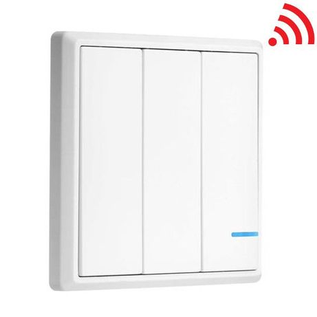 Comutator bec, lustra, ...WiFi cu 3 butoane V-TAC VT-5133