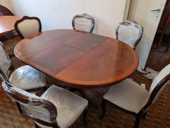 Барокова трапезна маса със 6 стола