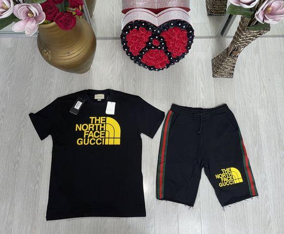 set tricou si pantaloni barbati Gucci The North Face premium