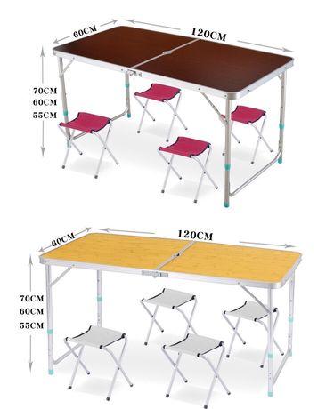 Стол складной со стульчиками (4 шт). Доставка бесплатная.