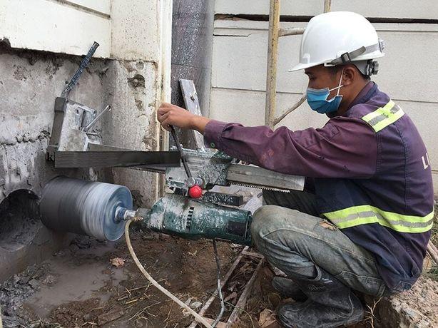 Сверление и бурение отверстий в бетоне