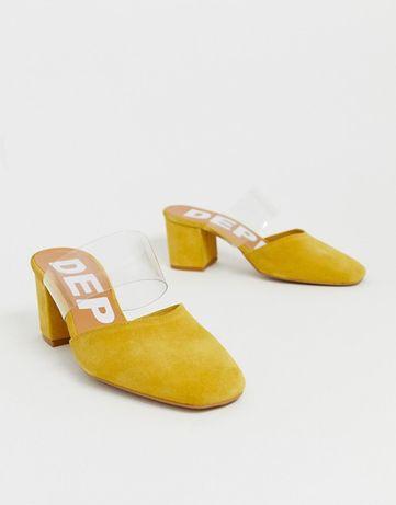 Дамски чехли в жълто