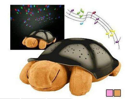 Светеща костенурка нощна музикална лампа с кабел и батерии подарък