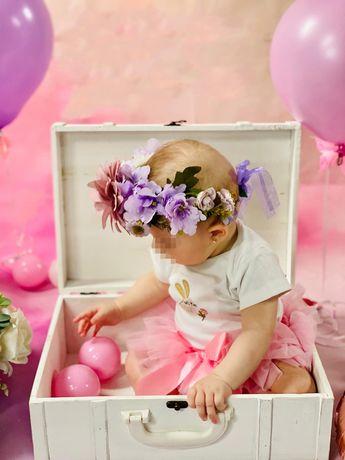 Coronite florale, coronita fetita flori artificiale,serbare,mama fiica