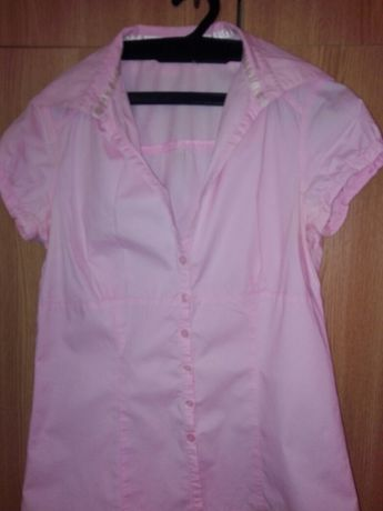 Cămașă xs,cu mânecă scurta Terranova ,roz pal
