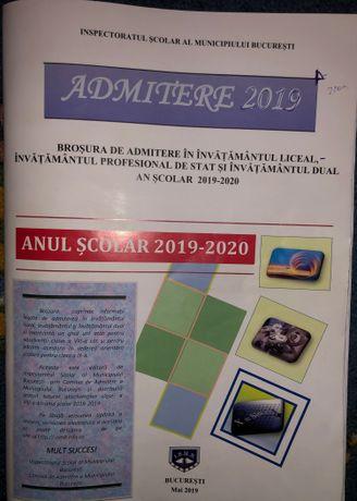 admitere 2019 - brosura admitere invatamant liceal