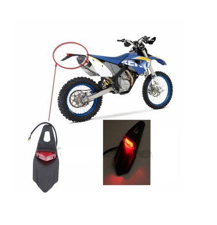 Codita Spate Moto Cu Stop Led Suport Numar Enduro Cross Sherco Gas Gas