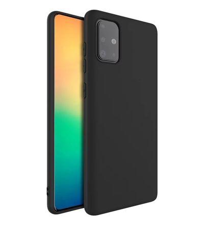 Samsung A51 A71 A41 A21s A30s A31 A42 Husa Silicon Transparenta Neagra