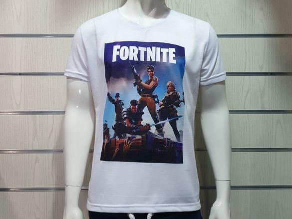 Нова мъжка тениска с щампа FORTNITE